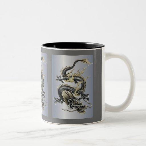 metallic dragon two tone coffee mug zazzle