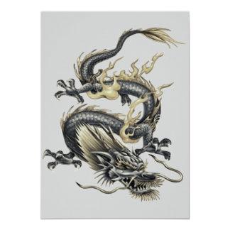 Metallic Dragon 5x7 Paper Invitation Card