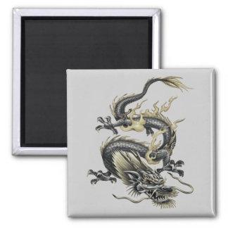 Metallic Dragon Fridge Magnet
