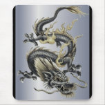 Metallic Dragon Mouse Pad
