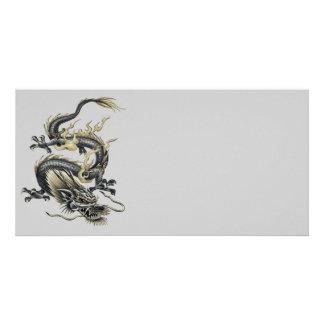 Metallic Dragon Custom Photo Card