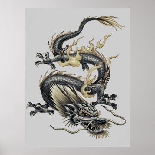 Metallic Dragon Poster