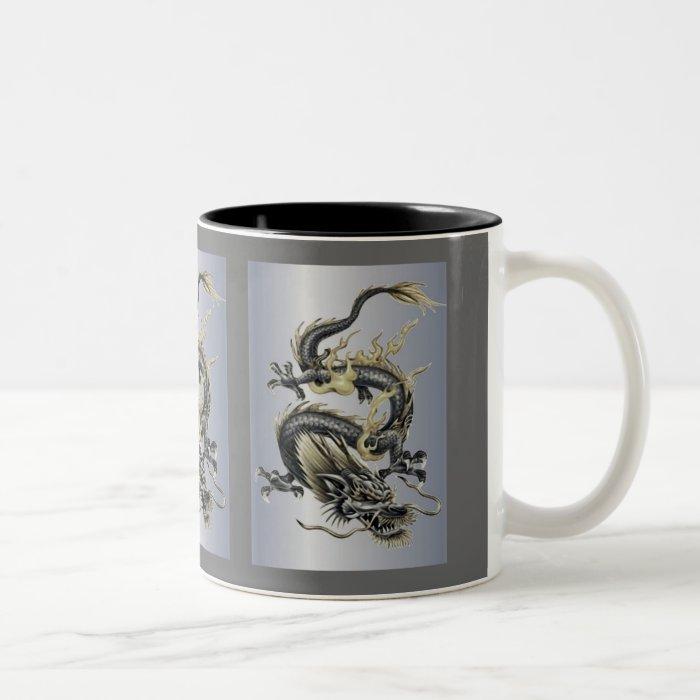 Metallic Dragon Two-Tone Coffee Mug