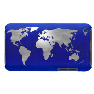 Metallic Earth Map iPod Touch Case-Mate Case