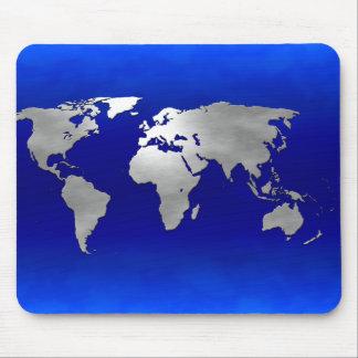 Metallic Earth Map Mousepads