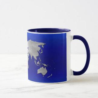 Metallic Earth Map Mug