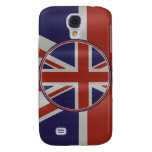 Metallic effect union jack flags galaxy s4 cover