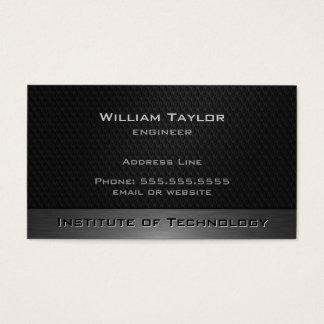 Metallic Elegance with QR code Business Card
