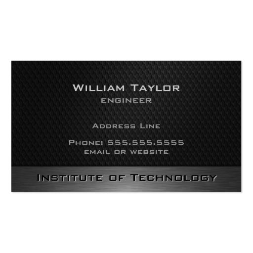 Metallic Elegance with QR code Business Card Template