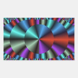 Metallic Eye Rectangular Sticker