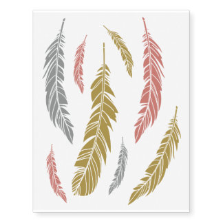 Metallic Feather Collection Temporary Tattoos