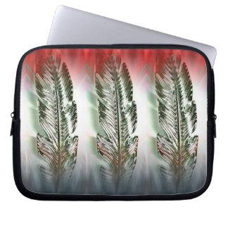 Metallic Feathers Colorflow Laptop Sleeve