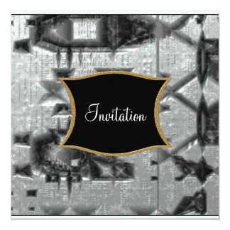 Metallic  feel Invitation any Occasion