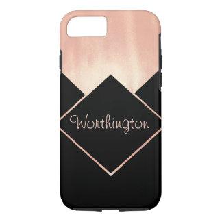 Metallic Feminine Modern Cool Rose Gold Obsession iPhone 7 Case