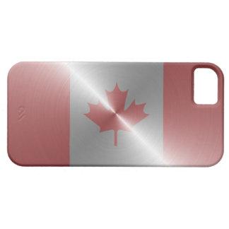 Metallic Flag Of Canada iPhone 5 Case