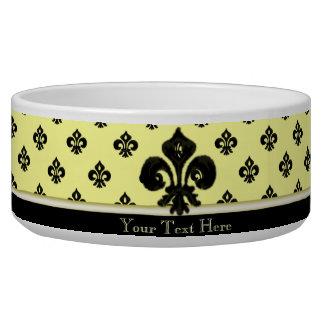 Metallic Fleur de lis (Black) Bowl