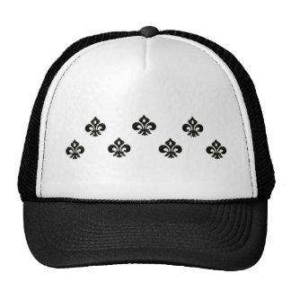 Metallic Fleur de lis (Black) Mesh Hat