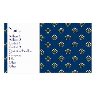 Metallic Fleur de lis (Gold) Business Card Template