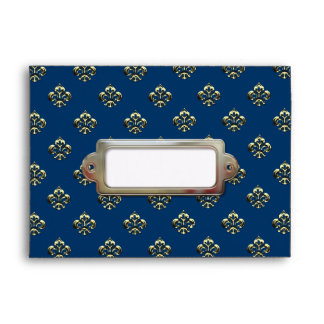 Metallic Fleur de lis Gold Envelopes