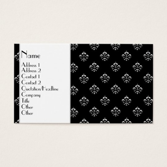 Metallic Fleur de lis (Silver) Business Card