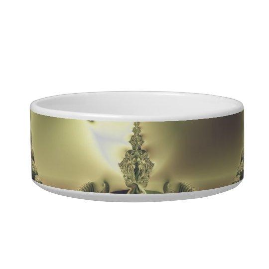 Metallic Flower Bowl