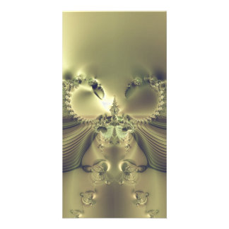 Metallic Flower Personalized Photo Card
