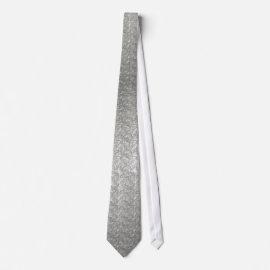 Metallic Flowing Silver Pattern on Necktie tie