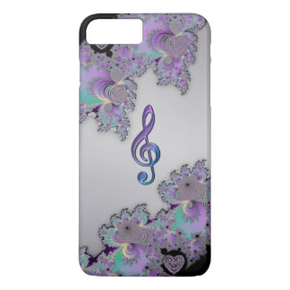 Metallic Fractal Music Clef iPhone 7 Plus Case