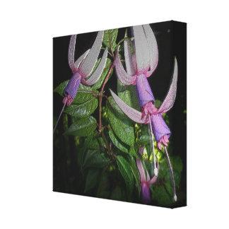 Metallic Fuchsia Blossoms - Digitally Enhanced Canvas Print