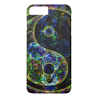 Metallic Future Urban Landscape Yin Yang Symbol iPhone 8 Plus/7 Plus Case