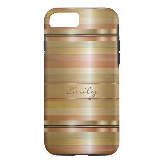 Metallic Gold And Copper Stripes 2