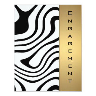 Metallic gold and silver abstract pattern invitations