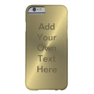 Metallic Gold Barely There iPhone 6 Case