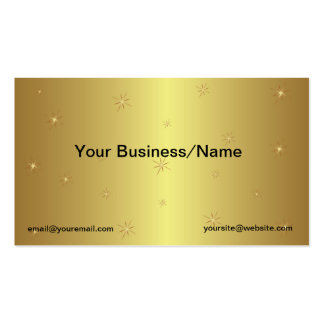 Metallic Gold Business Card with Stars