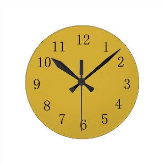 Metallic Gold Color Yellow Kitchen Wall Clock