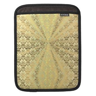 Metallic gold damsk iPad sleeve
