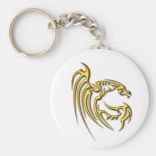 Metallic Gold Dragon Keychain