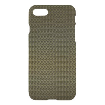 Aztec Themed Metallic Gold Graphite Honeycomb Carbon Fiber iPhone 7 Case
