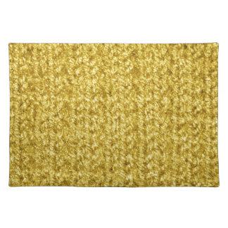Metallic Gold Knit Texture Cloth Placemat
