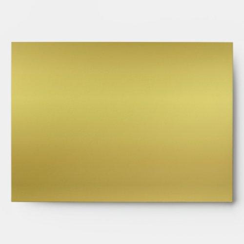 Metallic Gold Look Envelope
