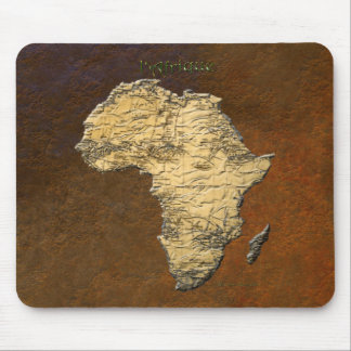 Metallic Gold Map of AFRICA Series Mouse Pad