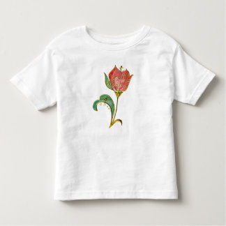 Metallic Gold Scrollwork Tulip Toddler T-shirt