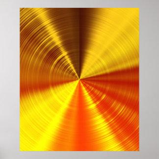 Metallic Gold Spiral Poster