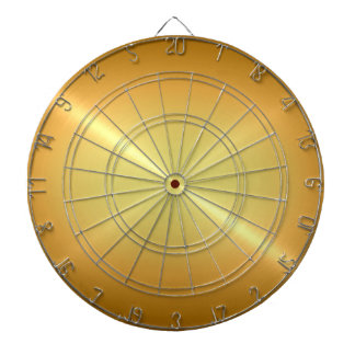 Metallic Gold Stainless Steel Metal Look Dart Board