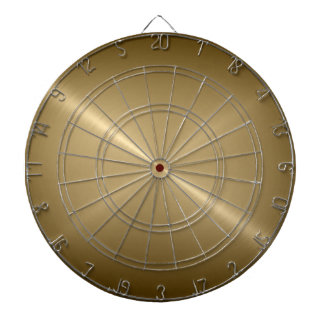 Metallic Gold Stainless Steel Metal Look Dartboard With Darts
