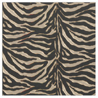 Metallic Gold Tiger Animal Print Fabric