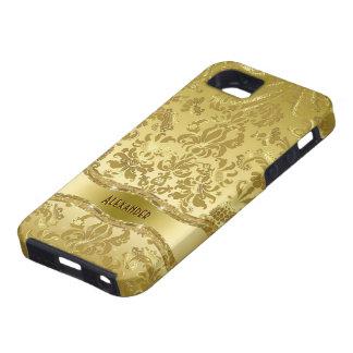 Metallic Gold Tones Vintage Floral Damasks iPhone 5 Case