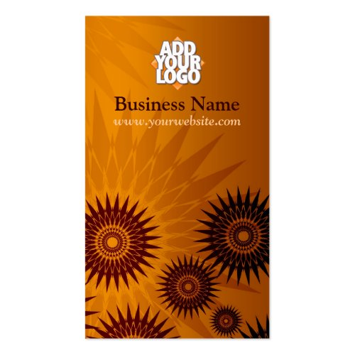 Metallic Golden Sunshines w/ Logo Business Card