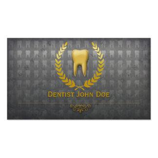 metallic golden teeth dentist dental business card