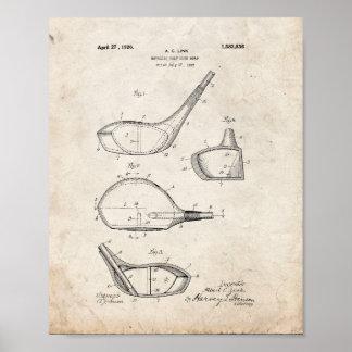 Metallic Golf-club Head Patent - Old Look Poster